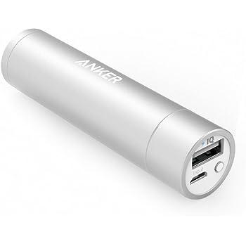 Anker PowerCore+ mini (3350mAh 超小型モバイルバッテリー) 【PSE認証済 / PowerIQ搭載】iPhone&Android対応(シルバー)