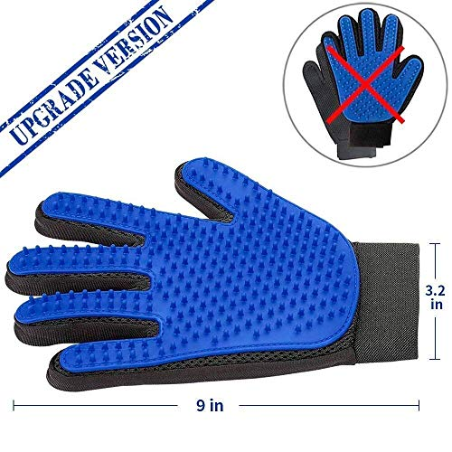 Product Image 3: PICKVILL Efficient Pet Hair Remover Mitt Enhanced 5 Finger Design Gentle Deshedding Brush Gloves for Dogs with Long and Short Fur (Multicolour)