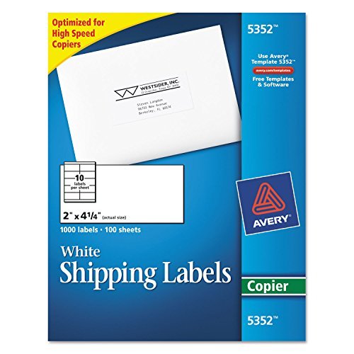 AVE5352 - Avery Self-Adhesive Shipping Labels for Copiers