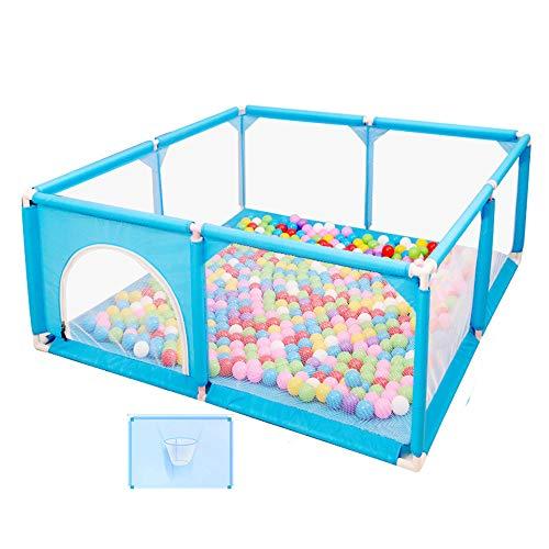 Play Space Playpen Play Fence Centro de Actividades para niños, Corral de Alto 66cm con 100 Bolas Marinas / 1 tapete para Gatear