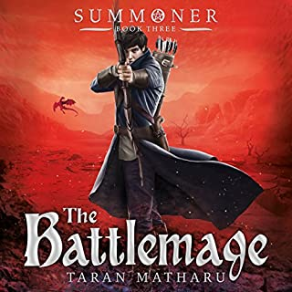 The Battlemage     Summoner, Book 3              By:                                                                                                                                 Taran Matharu                               Narrated by:                                                                                                                                 Dominic Thorburn                      Length: 10 hrs and 21 mins     539 ratings     Overall 4.7