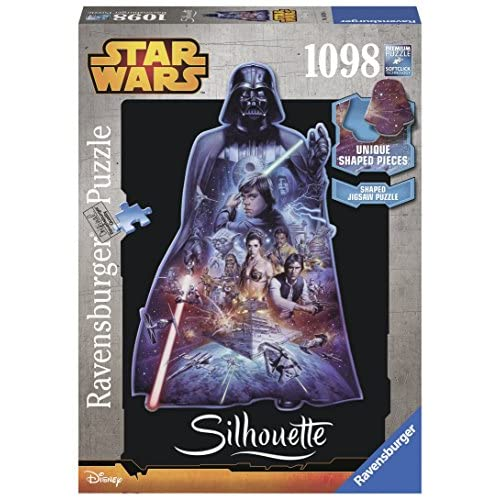 Ravensburger Italy- Darth Vader Puzzle, Silhouette Star Wars, Multicolore, 16158