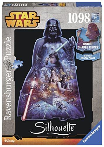Ravensburger 16158 - Star Wars, Darth Vader, 1098 Silhouette