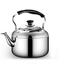 MSWL Kettle, 304 Stainless Steel Kettle, Teapot, Household Gas/Induction Cooker/Safety, Large Capacity, 4L/5L/6L/7L/8L, Ki...