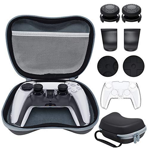 FYOUNG Kit de funda de transporte y accesorios para controladores de PS5