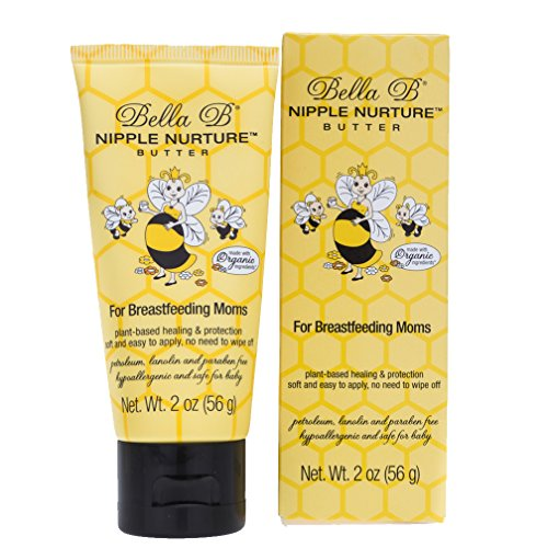 Bella B Nurturing Nipple Butter 2 oz - Organic Nipple Cream For Breastfeeding - Natural Nipplecreams For Breastfeeding - Breastfeeding Nipple Cream - Nipple Cream For Breastfeeding Organic
