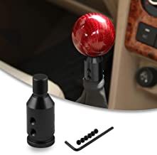 RYANSTAR Shift knob Shifter Adapter Universal for Non Threaded Shifters M12×1.25, for BMW/VW Black