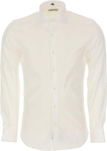 Fay Homme NCMA137259S0RMB001 Blanc Coton Chemise