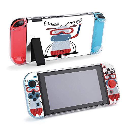 Carcasa protectora para consola y Joy-Con con protector de pantalla, agarre antiarañazos, diseño de animales