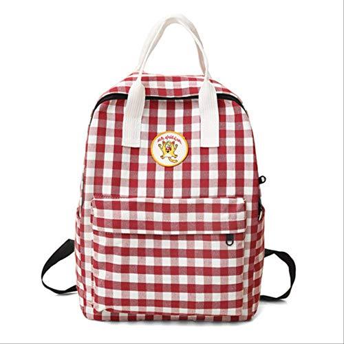 Tas voor school, rugzak voor school, van katoenweefsel, Engeland, voor tieners, lichte tas, voor vrije tijd of op reis.