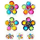 GOHEYI Popper it Fidget Spinner Toys 4 Pack, Simple Dimple Fidget Toy, Pops-It Fidget Pack-Push Pop...