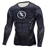 Cosfunmax Superhero Shirt Compression Sports Shirt Runing Fitness Gym Short/Long Sleeve Base Layer XXL