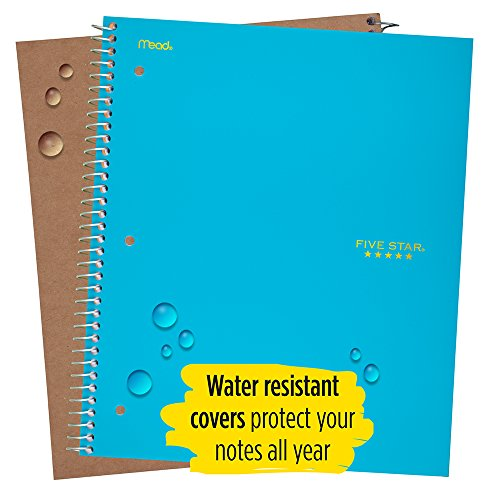 """Five Star Spiral Notebooks, 1 Subject, College Ruled Paper, 100 Sheets, 11"""" x 8-1/2"""", Teal, Yellow, 2 Pack (38440) Photo #4"""