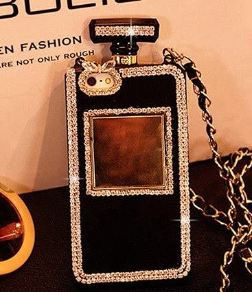 For Iphone12 13-France, Case & Strap Diamond Crystal Cute Pearl Perfume Bottle Shaped Chain Handbag Case Cover For 11 12 Pro MAX XS MAX XR 5s 6s 7 8plus Case