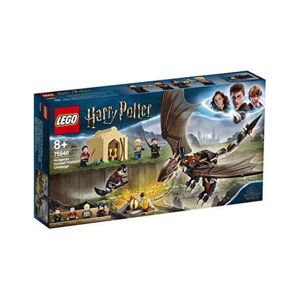 LEGO-Harry-Potter-La-Sfida-dellUngaro-Spinato-al-Torneo-Tremaghi-Set-di-Costruzioni-Ricco-di-Dettagli-con-4-Minifigure-per-Ragazzi-8-Anni-e-Appassionati-della-Saga-Multicolore-75946