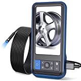 Dual Lens Borescope-Endoscope, Teslong MS450 Inspection Camera with 4.5 inches HD Screen, 16.4ft IP67 Waterproof with 7 LEDs, Scope Camera Flexible Cable, Zoom, 2500mAh, Protective case, 32GB Card