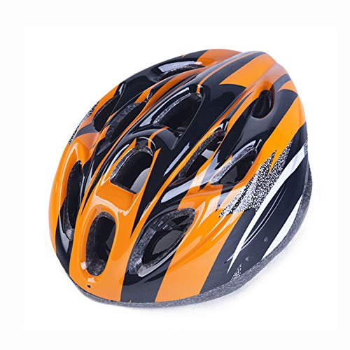 Casco de bicicleta de carretera, casco de ciclismo para hombre, cómodo, transpirable, totalmente formado, color naranja