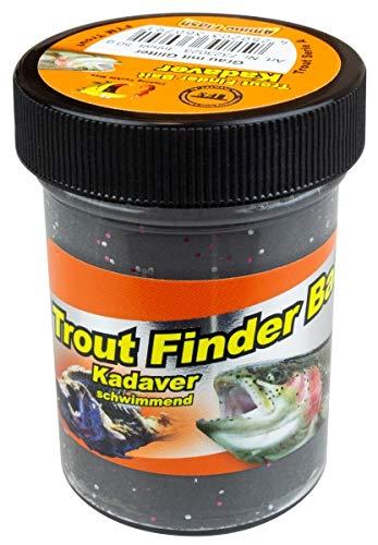 TFT FTM Trout Finder Bait Kadaver Glitter Paste 50g Grau Glitter Schwimmend 7323023 Forellenteig Forellenpaste Paste