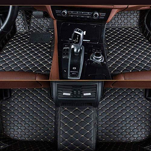 Muchkey Auto Fussmatten Fußmatten Set für BMW 1er F20 F21 116i 118i 120i 2012 2013 2014 Allwetter Matte Wasserdicht Automatten Zubehör Schwarzes Beige