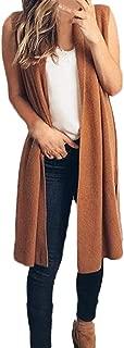Women's Cardigans,Solid Sleeveless Jacket Loose Cool Chic Kimono Lightweight Outwear Long Thin Coats Jackets for Women