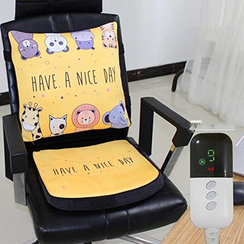 BILGFTG verwarmingskussen voor stoel, elektrisch verwarmingskussen voor bureaustoel thuis verwarming met controller
