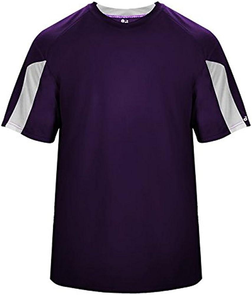 Badger 4176 Striker Tee Purple/White M