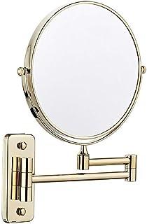 """مرايا الحمام تعلق على الحائط مزدوجة الوجهين 3X التكبير مرآة التجميل 8 """"فانيتي مرآة"""