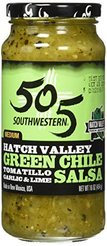 505 Southwestern Hatch Valley Green Chile Salsa (Tomatillo, Garlic and Lime) (16 Ounces)