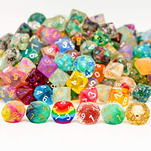 Cusdie 10 Pack of D10 Dice Random Color D10 Polyhedral Dice 10 Sided Dice for DND RPG MTG Table Games Dungeons and Dragons Dice