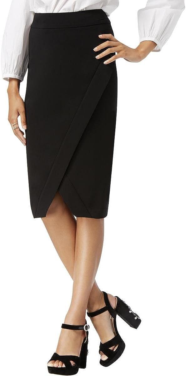 I.N.C. International Concepts INC Womens Black Below The Knee Pencil Wear to Work Skirt Size 4