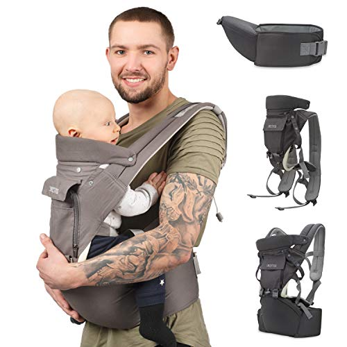 Sweety Fox - Multi-Position Baby Carrier with Hip Seat