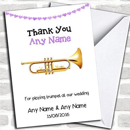 Bedankt voor het spelen van trompet op onze bruiloftskaart met envelop, volledig gepersonaliseerd, snel en gratis verzonden