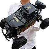 xcxc 1/14 Racing Truck Off Road Eléctrico de Alta Velocidad Control Remoto, neumático Grande Monster Truck RC Buggy Crawlers Chariot Semi-Truck 2.4Ghz Radio Controlled Race RC Car (Color: Negro)