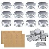 OUTERDO Döschen, Aluminium Leer Döschen 24 Stücke Set (Mit 2 Stücke runde Aufkleber), Cremedose...