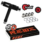 Bones Reds Bearings for [Skateboards, Longboards, Scooters, Spinners] (8 Pack...
