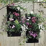 WBTY Bolsas colgantes para jardineras, 4 bolsillos verticales, para colgar en la pared, macetas de jardín, bolsas de cultivo para patios, apartamentos, balcones, patios, jardines y jardines