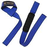Meister - Correas de Neopreno Acolchadas Antideslizantes para Levantamiento de Pesas (par), Color Azul