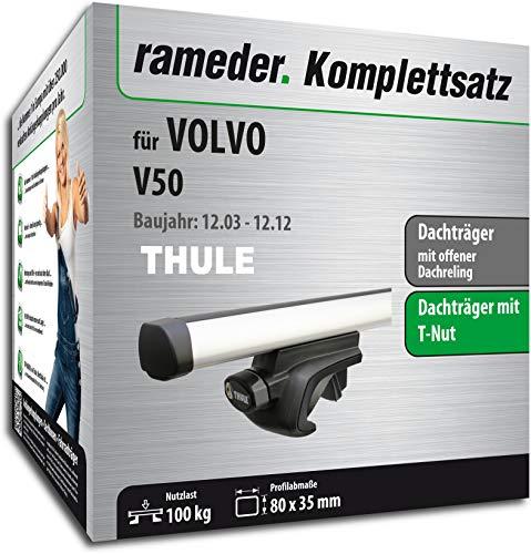 Rameder Set, Dachträger ProBar kompatibel für Volvo V50 (115507-05090-235)
