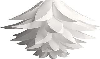 kwmobile DIY Puzzle Lampshade - Lotus Flower Jigsaw IQ Lamp Design Light - Ceiling Pendant Light or Standing Floor Lamp Shade - Diameter 50cm - White