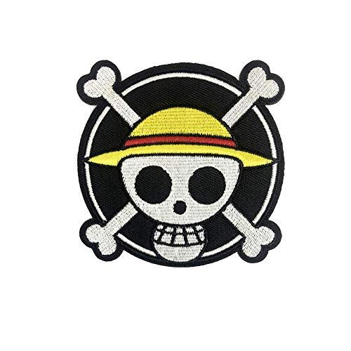 OYSTERBOY One Piece Luffy's Stroh Hut Pirat Jolly Roger Pirat Aufnäher Aufbügler