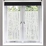 Finnez Window Film – for Privacy and Light Protection   Vinyl Sticker Film Creates a Frosted Glass...