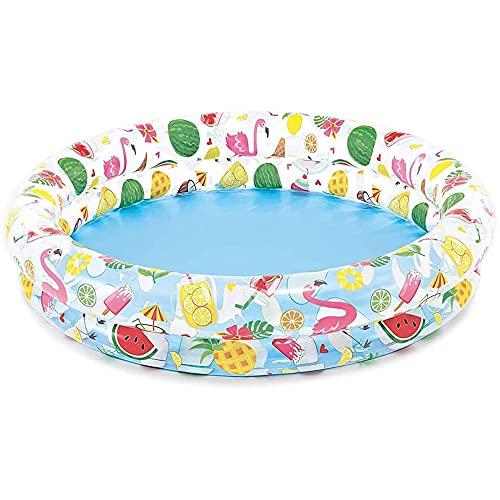 com-four® Planschbecken rund für Kinder - Kinderpool aufblasbar - Schwimmbecken - Kleiner Aufstellpool für den Garten - ca. 120 x 25 cm
