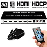 HDMI Switch 5x1 hdmi switcher 5 in 1 Out 4K@30hz HDMI switch selector