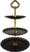 Artliving 3-tier Plastic Cake Stand-Dessert Stand-Cupcake Stand-Tea Party Serving Platter Black Gold