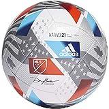 adidas MLS Training Soccer Ball Top:White/Iron Metallic/Silver Metallic/Pantone Bottom:Black 5
