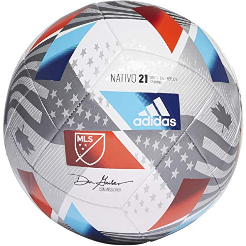 adidas MLS Training Soccer Ball Top:White/Iron...