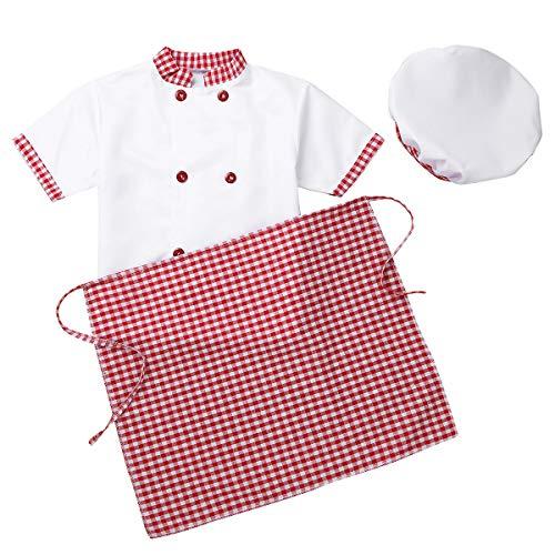 MSemis Unisex Disfraz de Cocinero para Niños Niñas Cosplay Chef Traje de...