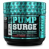 PUMPSURGE Caffeine-Free Pump & Nootropic Pre Workout Supplement, Non Stimulant Preworkout Powder &...