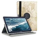 kwmobile Étui Compatible avec Samsung Galaxy Note 10.1 N8000 / N8010 - Étui à Rabat 360° avec...
