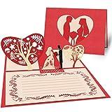 WEARXI Hochzeitskarte - Hochzeitsgeschenke für Brautpaar Karte Hochzeit, Geldgeschenke Hochzeit Glückwunschkarte 3D Pop Up Glückwunsch Hochzeitskarten Karte für Grußkarte & Valentinstag Karte